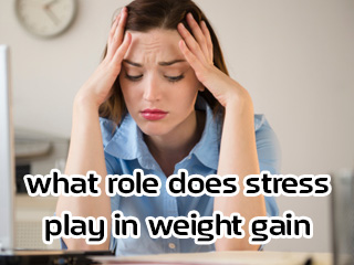 What role does stress play in weight gain